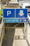 Entrance of Secure Parking in Brisbane Stock Images