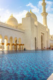Entrance of Sheikh Zayed Grand Mosque Royalty Free Stock Photography