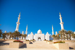 Entrance of Sheikh Zayed Mosque in Abu Dhabi Stock Image
