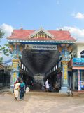 Entrance of Shri Krishna Temple, Ambalpuram royalty free stock photo