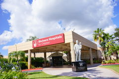 The entrance of Shriners Hospitals for Children. The main entrance of Shriners Hospitals for Children Stock Photo