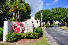 The entrance of Shriners Hospitals for Children. The main entrance of Shriners Hospitals for Children, taken in Tampa, Florida Stock Photos