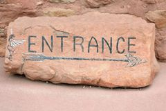 Entrance Sign Royalty Free Stock Photo