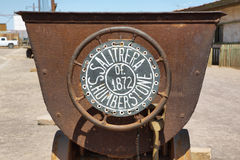 Entrance sign of deserted ghost town of Humberstone Royalty Free Stock Photo