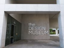 Entrance and sign at the Design Museum in London royalty free stock photos