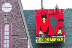 Entrance Sign of Despicable Me Minion Mayhem Royalty Free Stock Photos