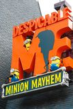 Entrance Sign of Despicable Me Minion Mayhem Royalty Free Stock Photography