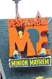Entrance Sign of Despicable Me Minion Mayhem Royalty Free Stock Photo