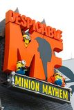 Entrance Sign of Despicable Me Minion Mayhem Stock Photography