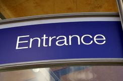 Entrance. sign. entrance sign Royalty Free Stock Image
