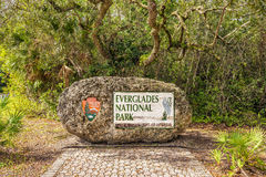 Entrance Sign in the Everglades. National Park, Florida Stock Image