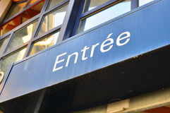 Entrance sign in french Stock Image