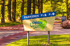 Entrance sign of national park Veluwezoom Stock Image