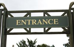 Entrance sign Royalty Free Stock Images