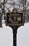 Entrance sign post Royalty Free Stock Photo