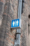 Entrance sign for a public toilette in Brugge Royalty Free Stock Images