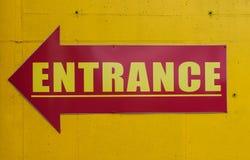 Entrance sign Royalty Free Stock Photos
