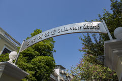 Entrance sign of St. Joseph's Seminary and Church Stock Photography