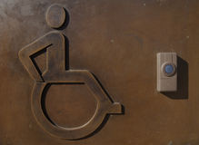 Entrance sign and system for disabled people. Stock Images