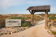 Entrance sign to Asilomar State Park Royalty Free Stock Image