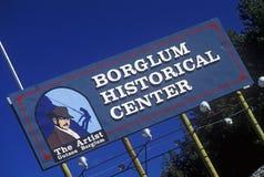 Entrance sign to Borglum Historical Center, Keystone, SD Stock Photos