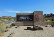 Entrance Sign to Joshua Tree National Park in California Stock Photo