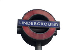 Entrance sign to the London Underground Royalty Free Stock Photo