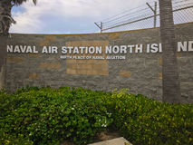 Entrance sign to Naval Air Station North Island in California Stock Photo