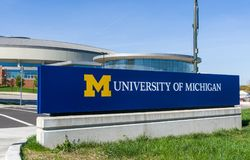 Entrance Sign to the University of Michigan