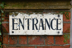 Entrance sign Stock Image