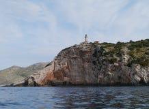 The entrance of Skrivena luka on the island Lastaovo Royalty Free Stock Photo