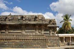 Entrance of Somnathpur Temple. Left view entrance of Somnathpur Temple Stock Images