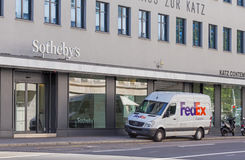 Entrance of the Sotheby's office in Zurich Stock Image