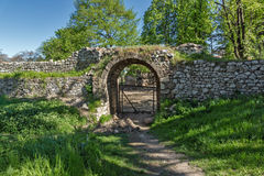 Entrance and Southeastern walls of Pirot Fortress, Serbia Royalty Free Stock Photography