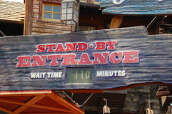Entrance for Splash Mountain Stock Images