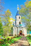 Entrance on St Nicholas Orthodox Church in Ventspils Royalty Free Stock Photo
