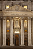 Entrance of St. Peters Basilica in Rome. Vatican City. Italy Royalty Free Stock Image