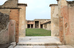 Entrance of the Stabian Baths in ancient Pompei, Italy Stock Photo