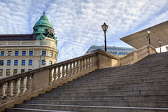 The entrance stair to the old art gallery Albertina (established 1805). Vienna, Austria. Stock Photography