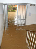 Entrance and staircase of the House invaded by mud 2. Entrance and staircase of the House invaded by mud during a flooding of the River 2 stock photo