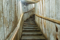 Entrance stairs in Cacica Salt Mine, Romania Stock Image