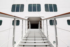 Entrance with stairs in cruise passenger liner Stock Image