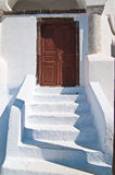 Entrance stairs in an Greek Church Royalty Free Stock Photo