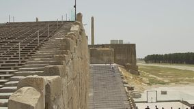 Entrance stairs of Persepolis stock video footage