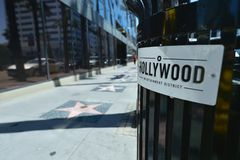 Los Angeles, California, USA, April 17, 2017: Entrance of the star alley on Hollywood stock photography