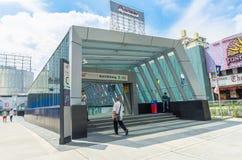 Entrance of the station Bukit Bintang Mass Rapid Transit (MRT). Kuala Lumpur,Malaysia - December 16,2017 : Entrance of the station Bukit Bintang Mass Rapid Royalty Free Stock Photography