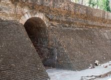 Entrance of the stone brick tunnel. Stock Photography