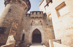 Entrance in stronghold open Royalty Free Stock Photography