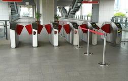 Entrance of subway station Royalty Free Stock Photography