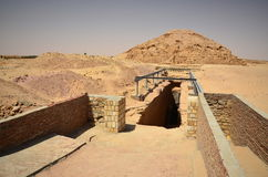 Entrance into Sudan pyramid Stock Photography